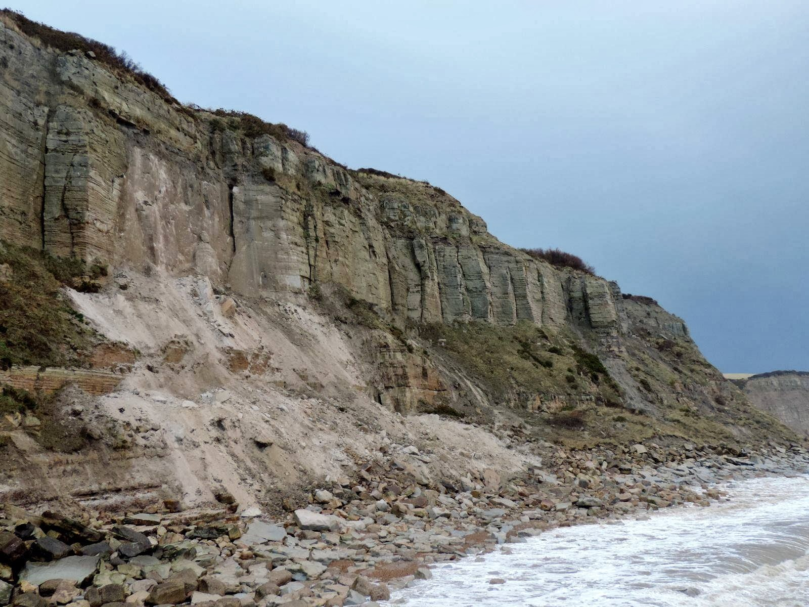 Fossil collecting with Hastings Battleaxe