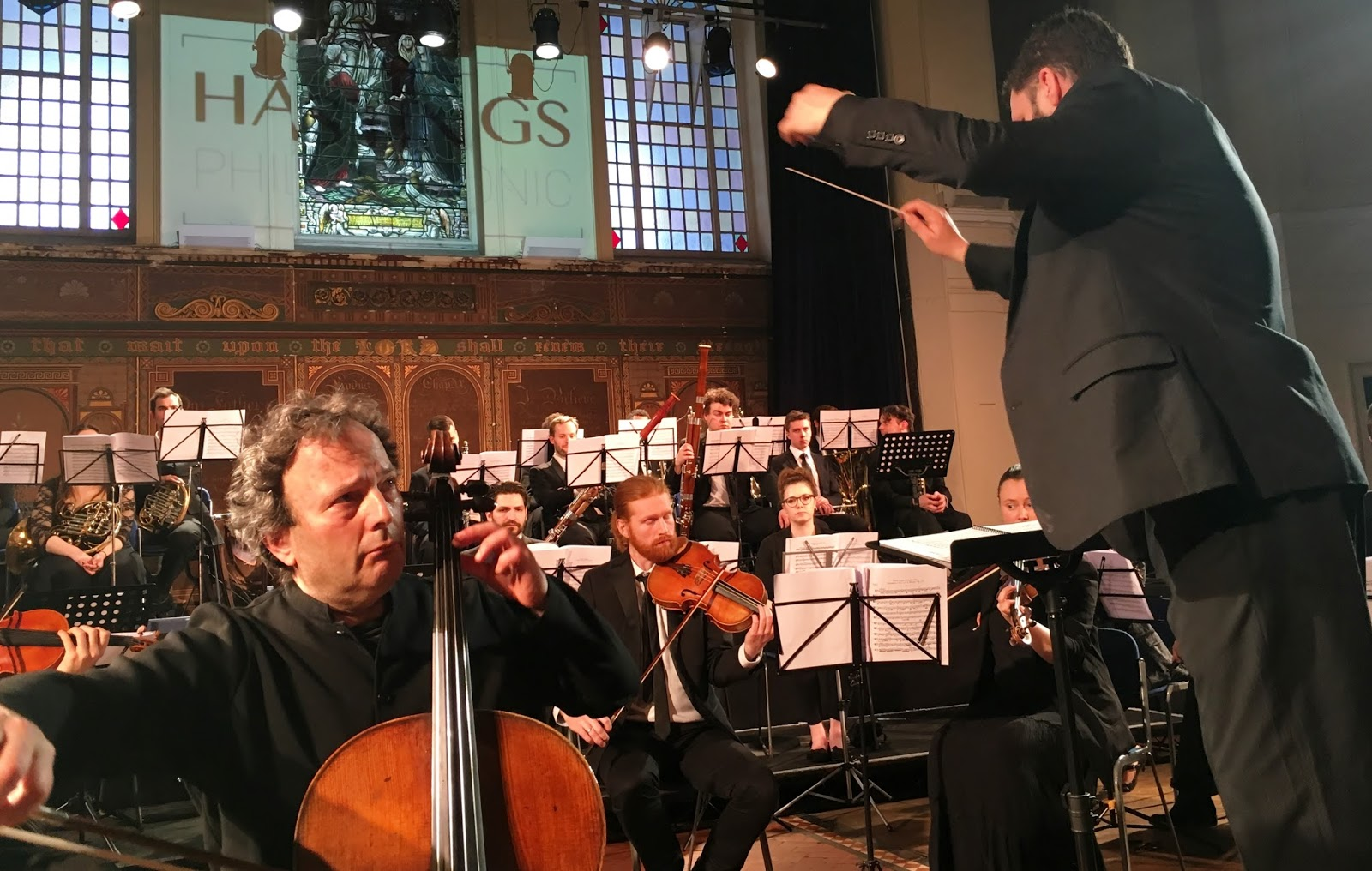 Great Hastings Philharmonic concert – Battleaxe gets up close and personal…