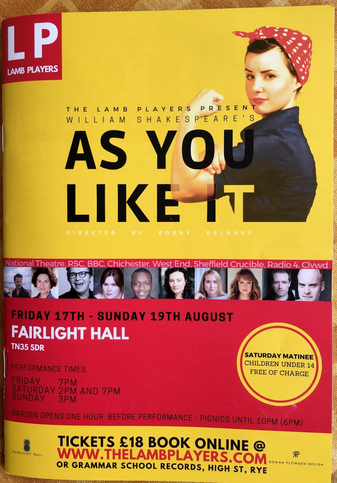 As You Like it, Lamb Players at Fairlight Hall – loved it!